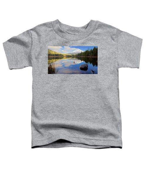 Trillium Lake Morning Reflections Toddler T-Shirt
