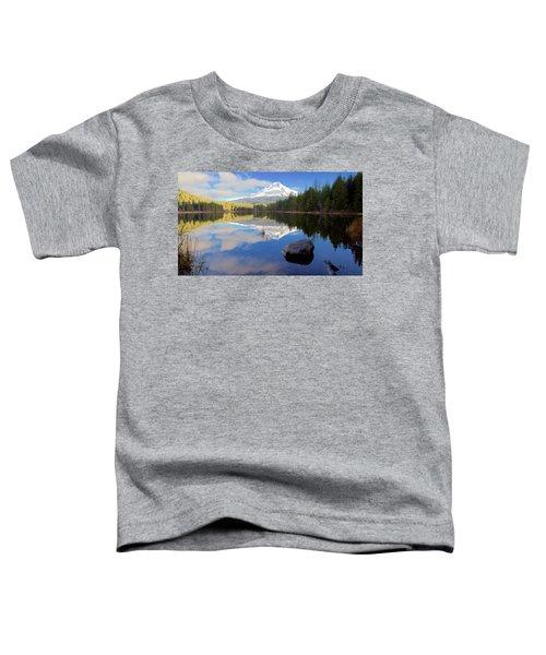 Trillium Lake November Morning Toddler T-Shirt