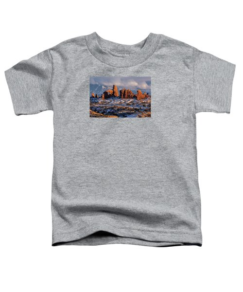 Turret Arch Winter Sunset Toddler T-Shirt