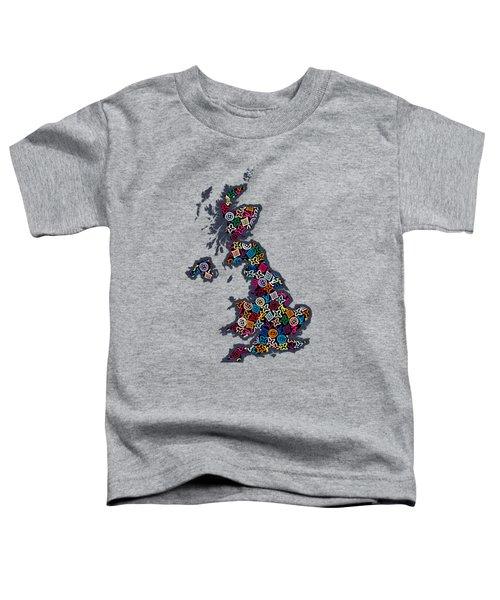 United Kingdom Map-2 Toddler T-Shirt