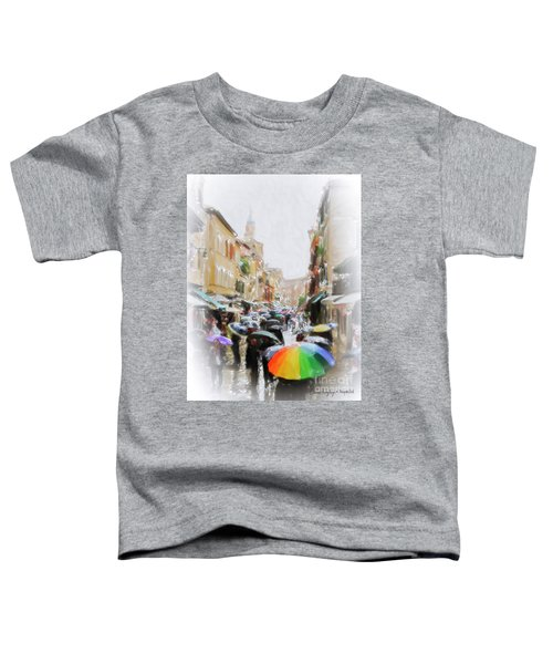 Venice In The Rain Toddler T-Shirt