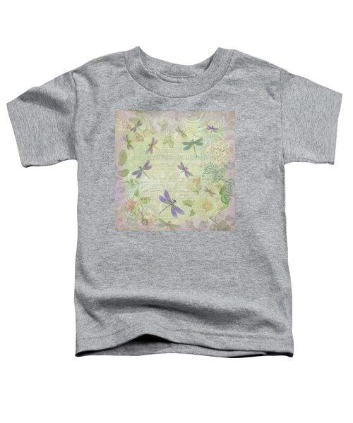 Vintage Botanical Illustrations And Dragonflies Toddler T-Shirt