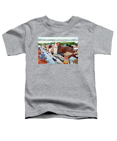 Vintage Color, Columbia Rooftops Toddler T-Shirt