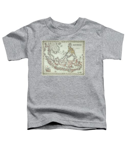 Vintage Map Of The East Indies  Toddler T-Shirt