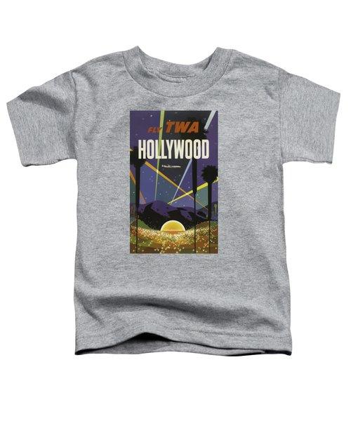 Vintage Travel Poster - Hollywood Toddler T-Shirt