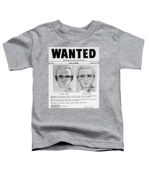 Wanted Zodiac Killer Toddler T-Shirt