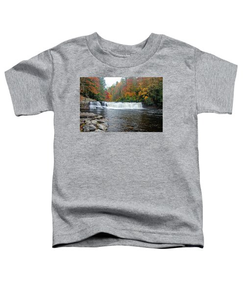Waterfall In Autumn Toddler T-Shirt