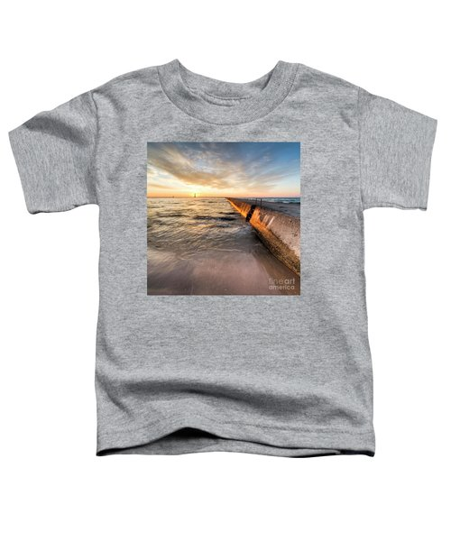 Waves And Sunset In Frankfort Toddler T-Shirt