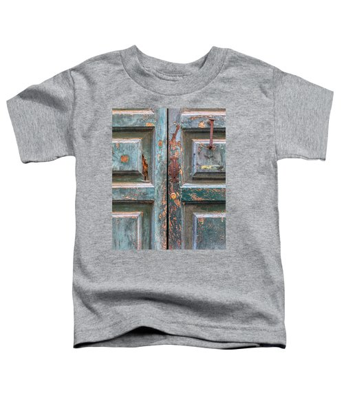 Weathered Rustic Green Door Of Cortona Toddler T-Shirt