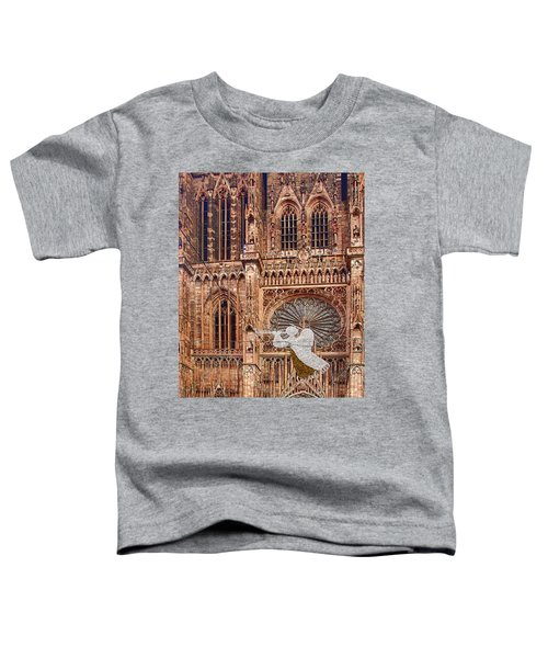 White Angel Decorations On Shops At The Christmas Market Toddler T-Shirt