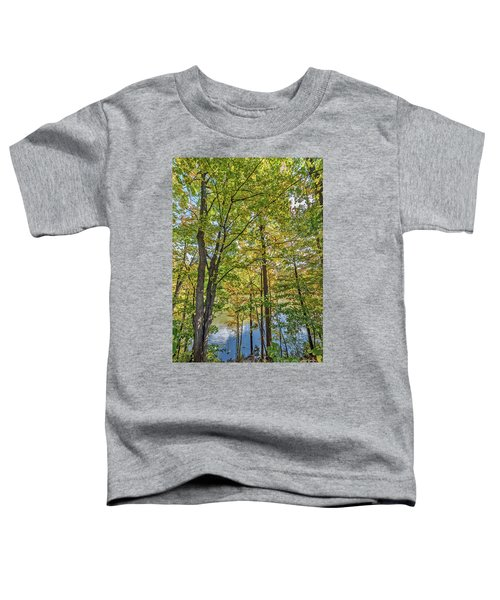 White Clouds Reflected In Rippling Water Toddler T-Shirt