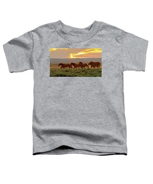 Wild Horses At Dusk Toddler T-Shirt