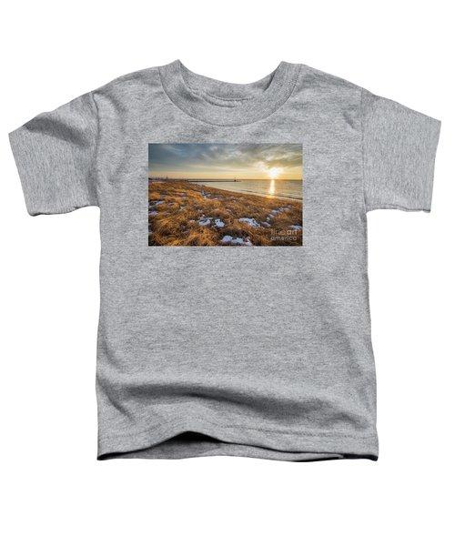 Winter Dunegrass At Sunset Toddler T-Shirt