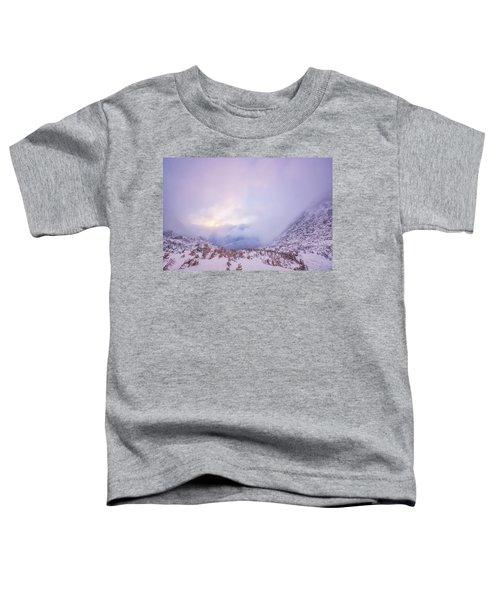 Winter Morning Light Tuckerman Ravine Toddler T-Shirt