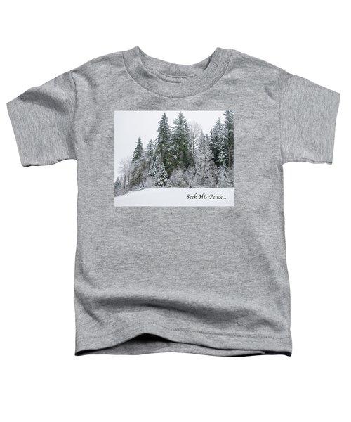 Winter Peace Toddler T-Shirt