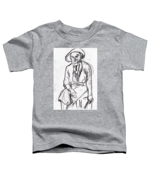 Woman In A Hat Drawing Toddler T-Shirt