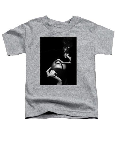 Woman Smoking A Cigar Toddler T-Shirt