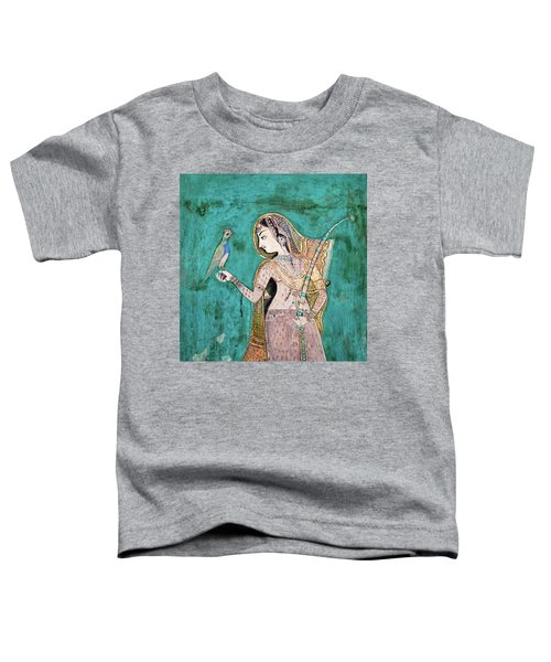 Woman With Parrot Toddler T-Shirt