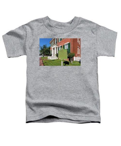 Woodrow Wilson Boyhood Home - Augusta Ga 1 Toddler T-Shirt