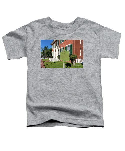 Woodrow Wilson Boyhood Home - Augusta Ga 1 Toddler T-Shirt