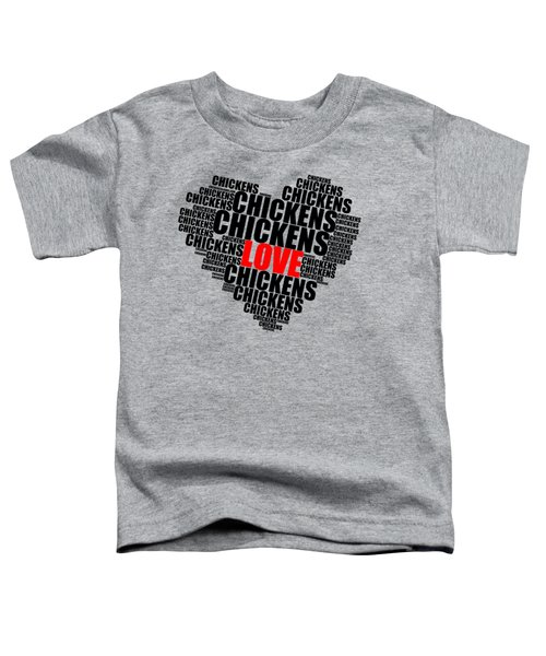 Wordcloud Love Chickens Black Toddler T-Shirt