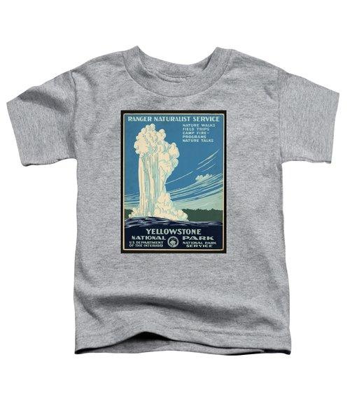 Yellowstone National Park, Ranger Naturalist Service Vintage Pos Toddler T-Shirt