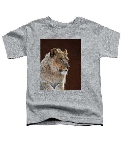 Young Male Lion Portrait Toddler T-Shirt