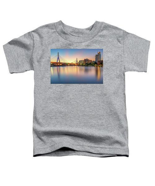 Zakim Bridge At Dawn Toddler T-Shirt