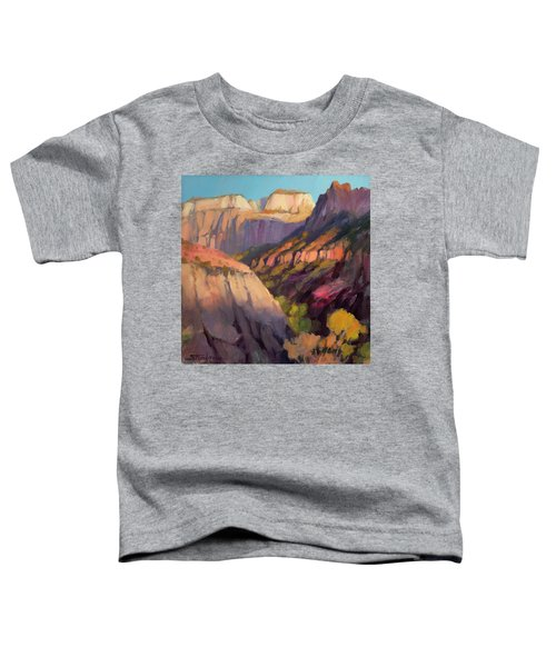 Zion's West Canyon Toddler T-Shirt