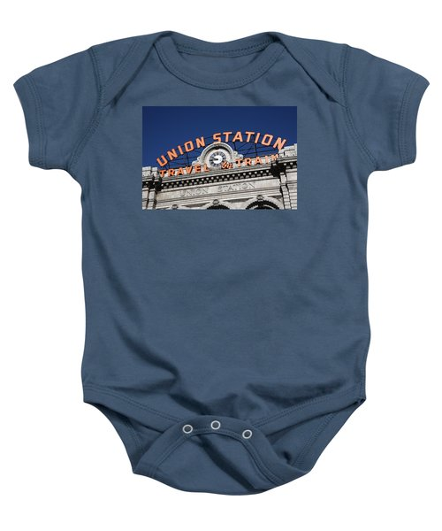 Baby Onesie featuring the photograph Denver - Union Station by Frank Romeo