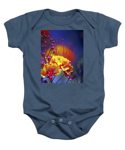 Red Yellow Blossoms 10197 Baby Onesie