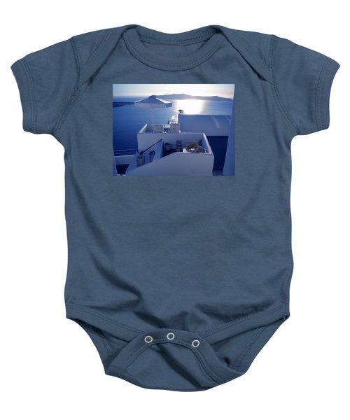 Santorini Island Greece Baby Onesie
