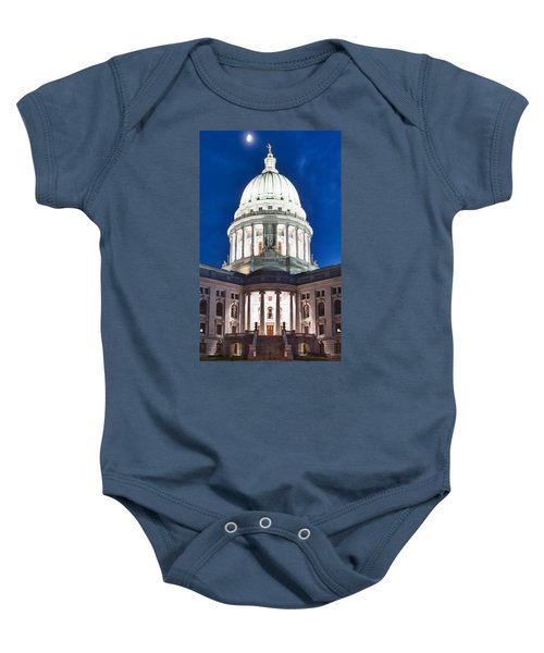 Wisconsin State Capitol Building At Night Baby Onesie