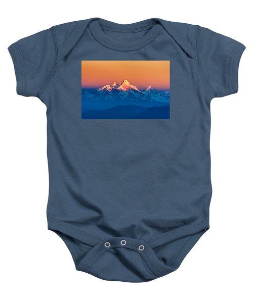 Himalayan Mountains View From Mt. Shivapuri Baby Onesie