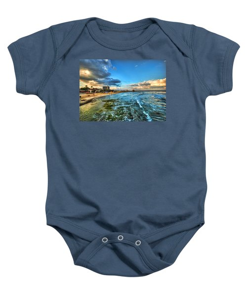 a good morning from Hilton's beach Baby Onesie