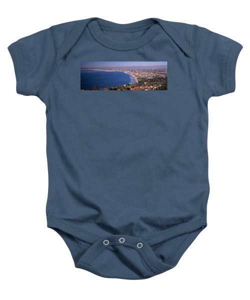 Aerial View Of A City At Coast, Santa Baby Onesie by Panoramic Images
