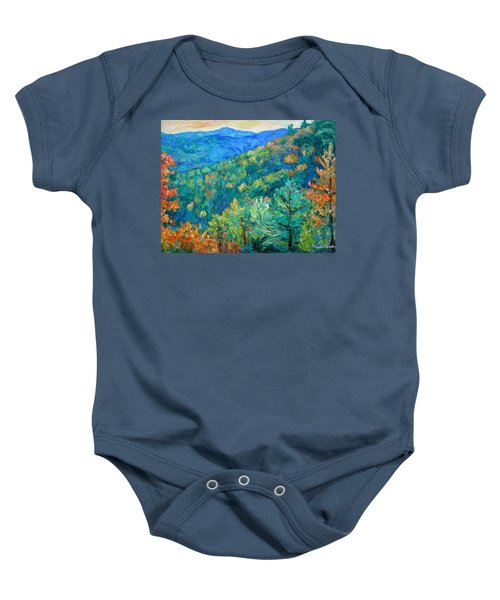 Baby Onesie featuring the painting Blue Ridge Autumn by Kendall Kessler