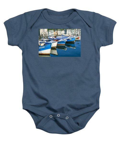 Boats At Anchor Baby Onesie