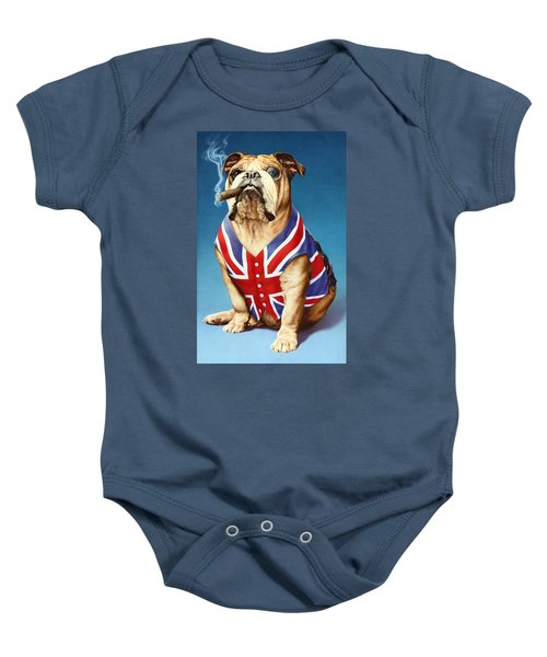 British Bulldog Baby Onesie by Andrew Farley