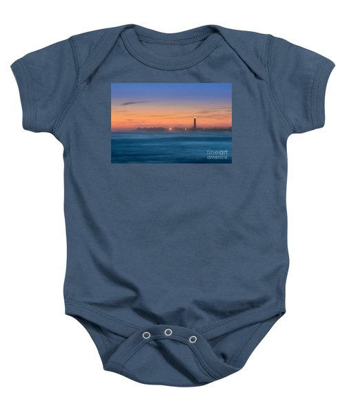 Cape May Lighthouse Sunset Baby Onesie