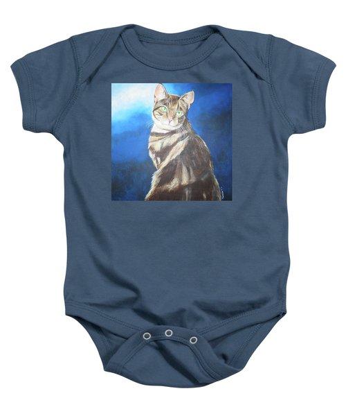 Cat Profile Baby Onesie