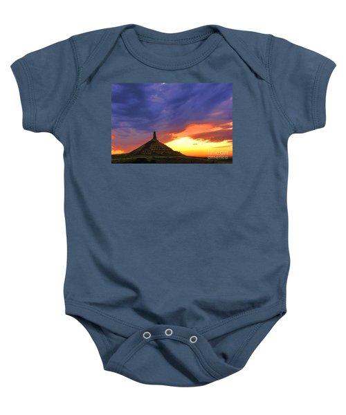 Chimney Rock Nebraska Baby Onesie