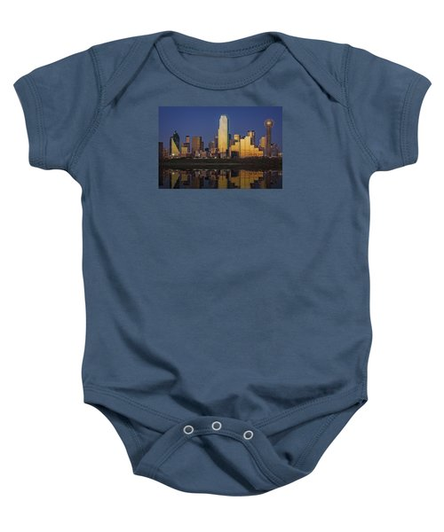Dallas At Dusk Baby Onesie by Rick Berk