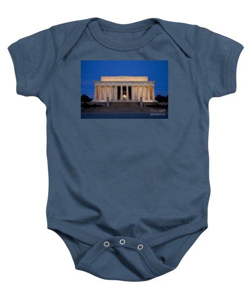 Dawn At Lincoln Memorial Baby Onesie