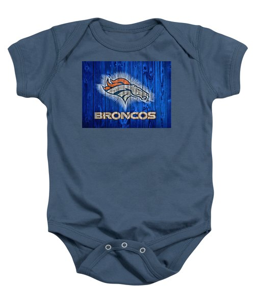 Denver Broncos Barn Door Baby Onesie