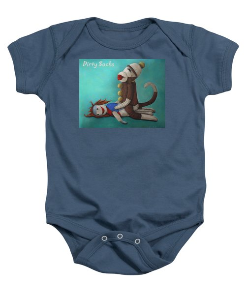 Dirty Socks 4 With Lettering Baby Onesie