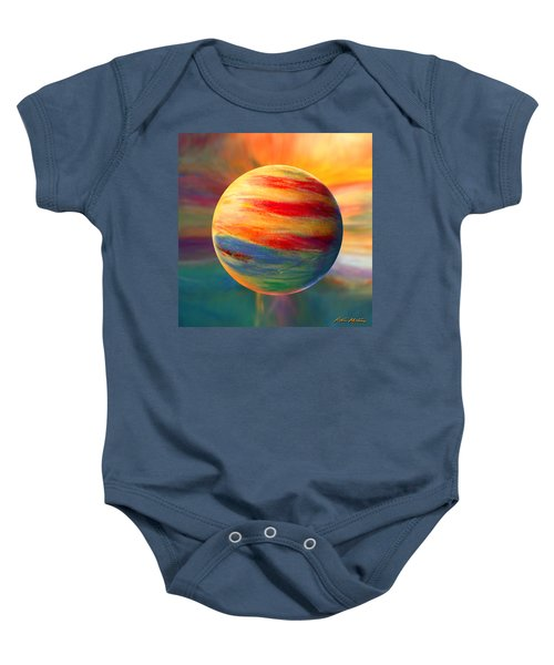 Fire And Ice Ball  Baby Onesie