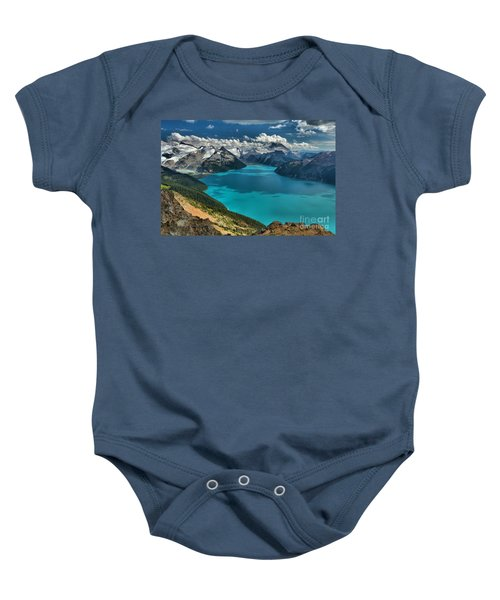 Garibaldi Lake Blues Greens And Mountains Baby Onesie
