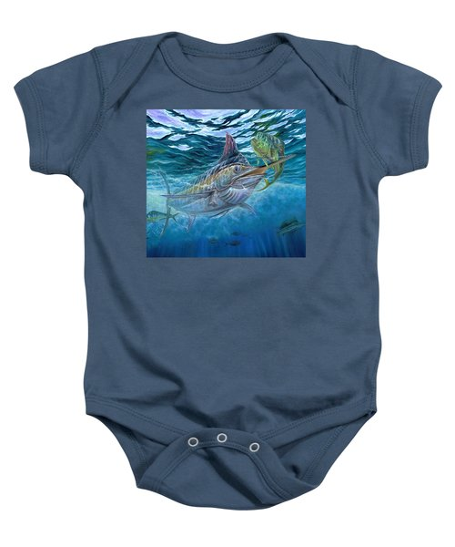 Great Blue And Mahi Mahi Underwater Baby Onesie