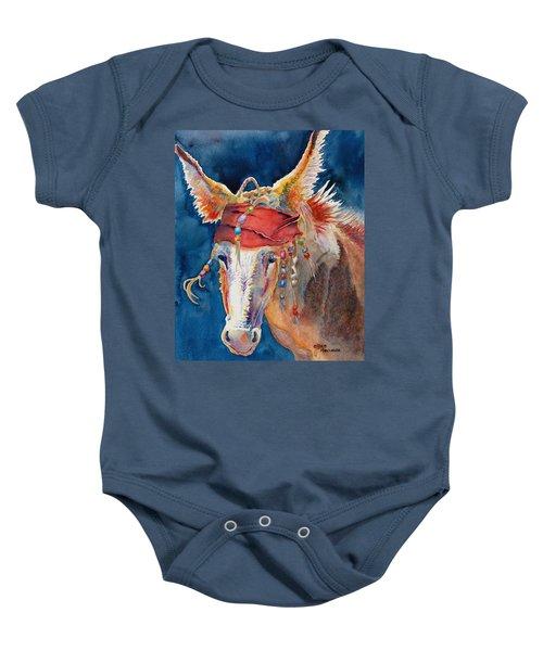 Jack Burro -  Donkey Baby Onesie by Deb  Harclerode